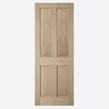 Oregon 4P White Oak Flush Beaded Door