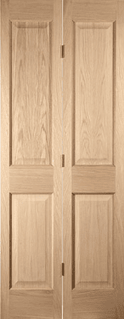 Oregon white oak 4 panel Bifold door