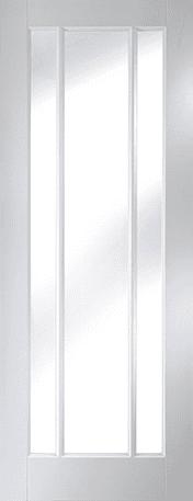 Primed timber Worcester clear glazed door