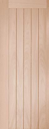 Recessed Cottage panel Door White Oak door