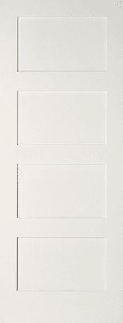 Shaker 4 panel primed door