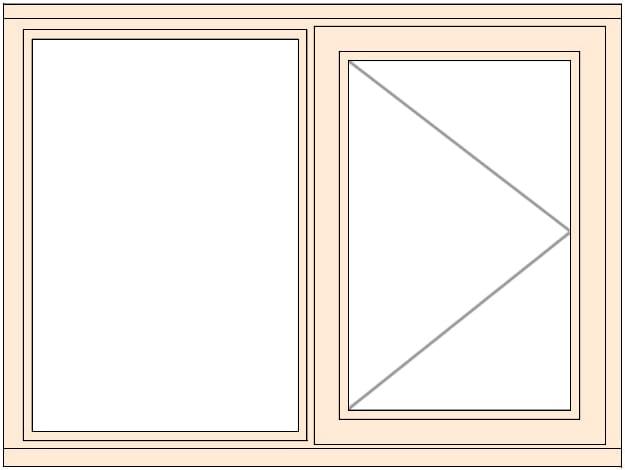 Jeldwen LEW210C -A SIDE OPENING CASEMENT WINDOW RIGHTHAND