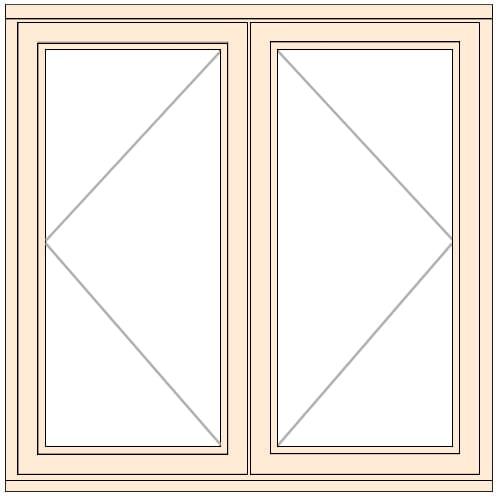 Jeldwen LEW212CC double opening casement window
