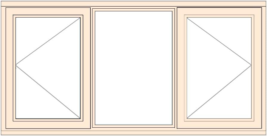 Standard width timber casement window 1765mm wide open for Window width