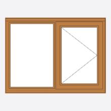 Oak Stormsure Casement Window Fixed/Open