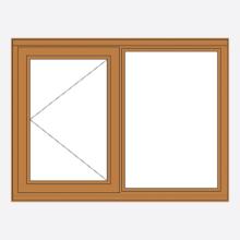Oak Stormsure Casement Window Open/Fixed