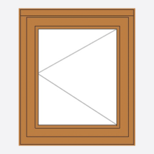 Oak Stormsure Casement Window single sash LH