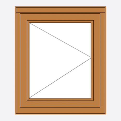 Oak Stormsure Casement Window single sash RH