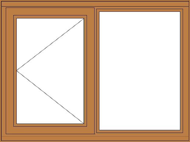Side Hung Casement Fixed Open Left