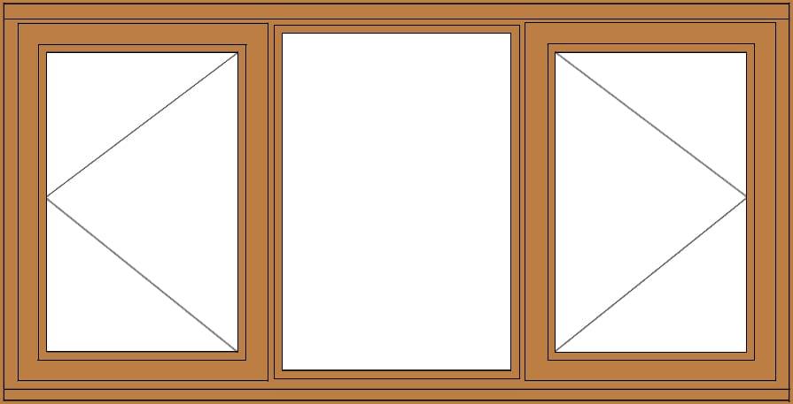 Sunvu Hardwood Casement Window Open Fixed Open Doors