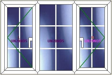 Upvc georgian bar windows
