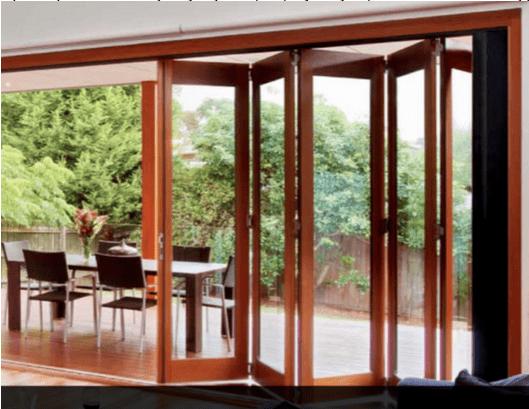 SunVu painted both sides folding sliding doors