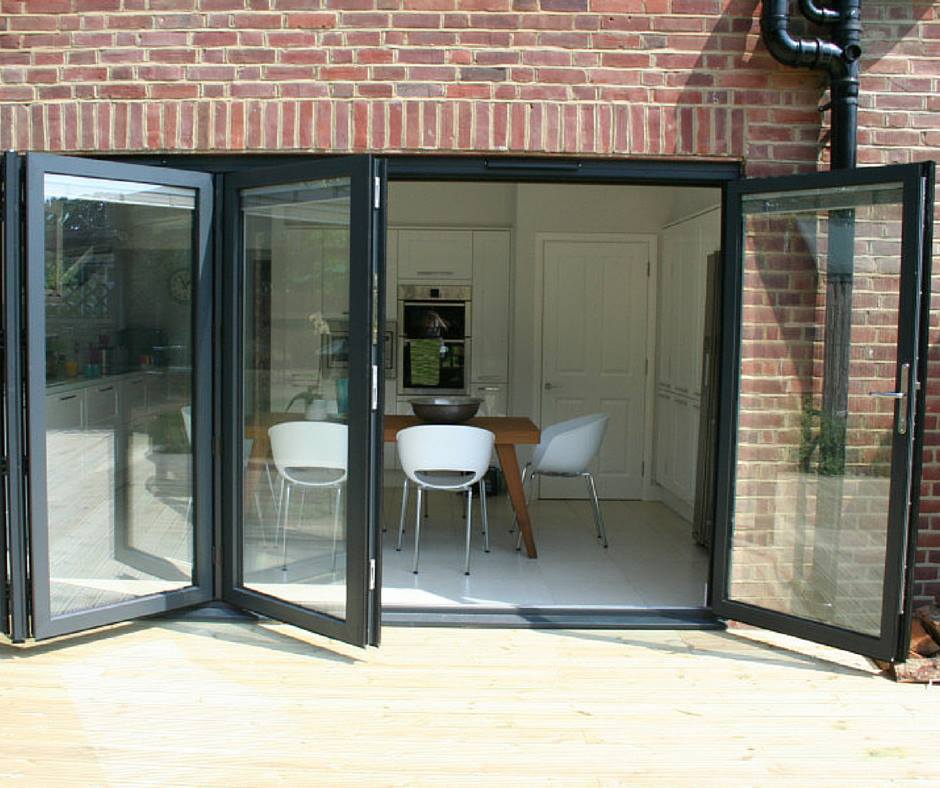 Alu Clad Bi Folding Patio Doors Select Any Colour Made To Measure