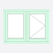 Sunvu Flush Casement Window Fixed/Open