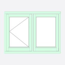 Sunvu Flush Casement Window Open Fixed