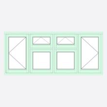 Sunvu Flush Casement Window open/vent/vent/open