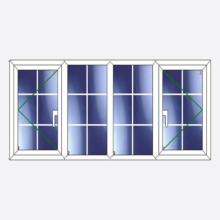 Sunvu Georgian Bar Casement Window Open/Fixed/Fixed/Open