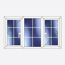 Sunvu Georgian Bar Casement Window Open/Fixed/Open
