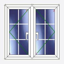 Sunvu Georgian Bar Casement Window Open/Open