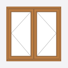 Sunvu Hardwood Casement Window Double Sash