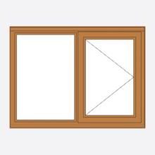 Sunvu Hardwood Casement Window Fixed/Open