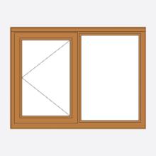 Sunvu Hardwood Casement Window Open Fixed
