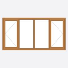 Sunvu Hardwood Casement Window open/fixed/fixed/open