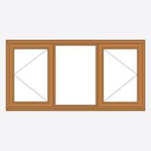 Sunvu Hardwood Casement Window open/fixed/open