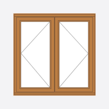 Sunvu Oak Casement Window Double Sash