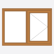Sunvu Oak Casement Window Fixed/Open