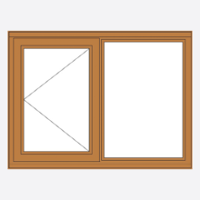 Sunvu Oak Casement Window Open Fixed
