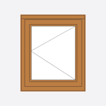 Sunvu Oak Casement Window Single Sash