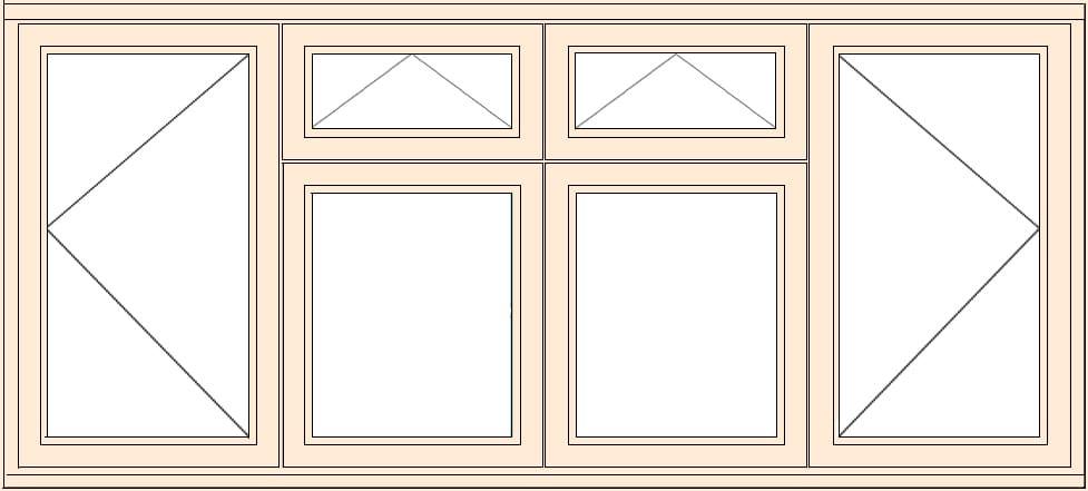 Standard casement open vent vent open 2334mmw