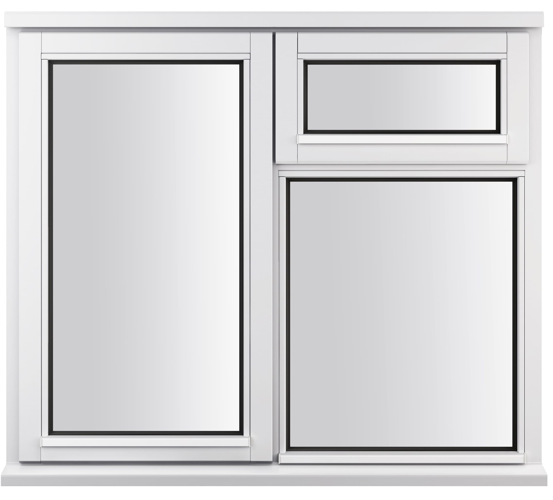 LEW210CV-A Jeldwen casement window with vent