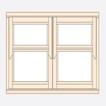 Standard Width Regency Casement Window 1195mm(w)
