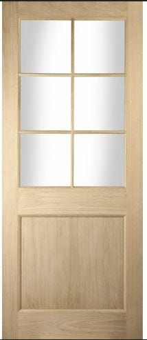 Jeldwen Radcliffe Oak unfinished clear glazed door