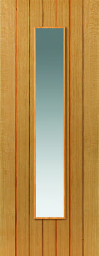 JBK River Oak Cherwell Glazed oak door