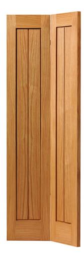 JBK River Oak Cottage Thames II bi-fold oak doors