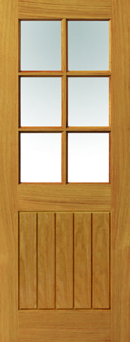 JBK River Oak Cottage Thames Original 6 light oak doors