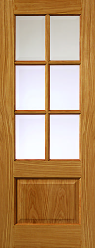 JBK River Oak Traditional Dove oak doors