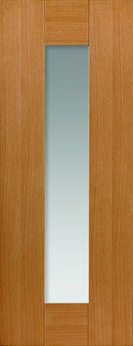 JBK Symmetry Axis Oak Glazed door