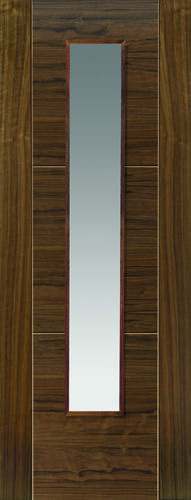 JBK Walnut Flush Mistral Glazed doors