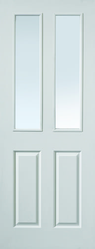 JBK White Moulded Canterbury 2LT clear glazed doors