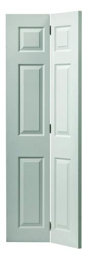 JBK White Moulded Colonist bi-fold doors