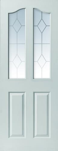 JBK White Moulded Edwardian 2LT doors