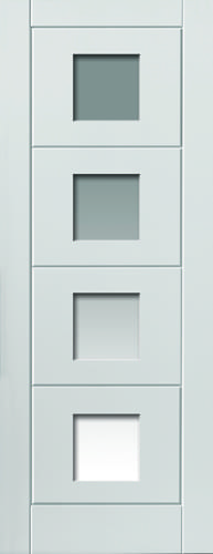 JBK White Moulded Quattro glazed doors