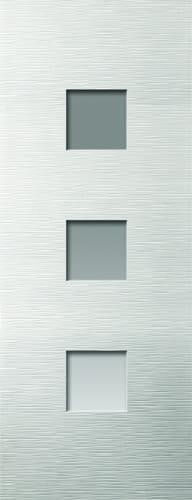 JBK White Moulded Ripple glazed doors
