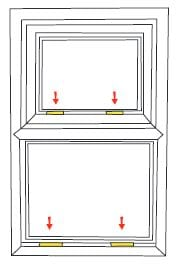 Upvc window glazing fitting