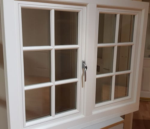 MM timber window inside view closed