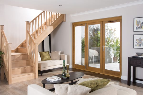Jeldwen Darwin 3 Door Folding Sliding doorset Golden Oak finish